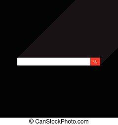 Web search bar vector illustration
