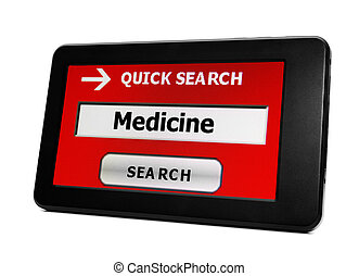 Web search for medicine