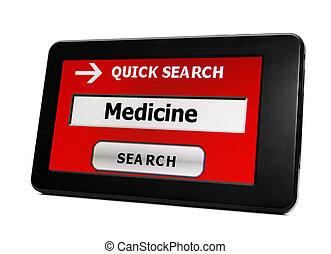 Web search for medicine