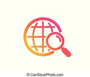 Web search icon. Find internet results sign. Vector