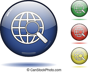 Web search icon set