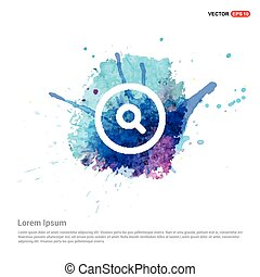 Web search icon - Watercolor Background