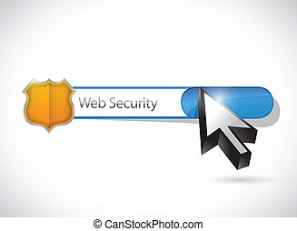 web security search bar illustration design