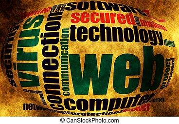 Web security word cloud