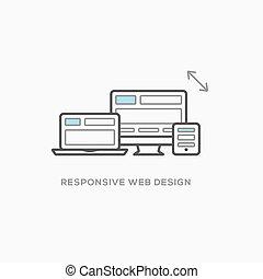 web, sensibile, illustrazione, disegno