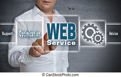 web service touchscreen concept background