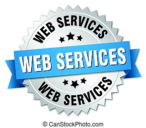 web services round isolated silver badge