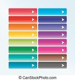 web, set, combinatie, kleur, knopen, richtingwijzer