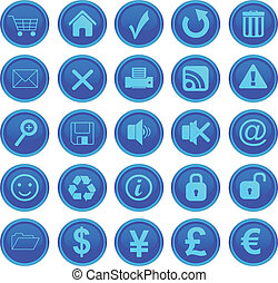 web, set, iconen