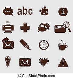 web set icons on grey