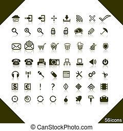 web, set, icons.
