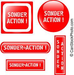 web shiny Button icon