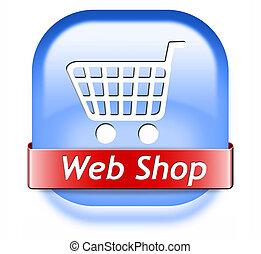 web shop button