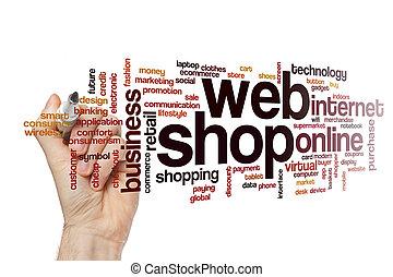 Web shop word cloud concept