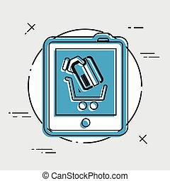 Web shopping icon