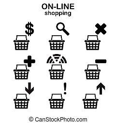 Web shopping icons