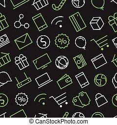 Web shopping sale background. Seamless pattern