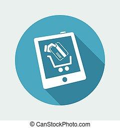 Web shopping vector icon