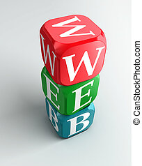 web sign 3d colorful buzzword