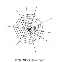 Web silhouette on a white background. Vector Illustration