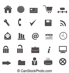 Web site, internet and e-commerce icons