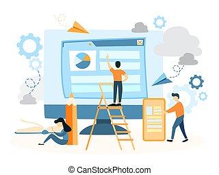 Web site building.
