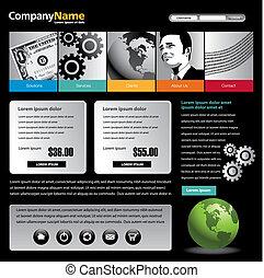web site design - Vector web site design template