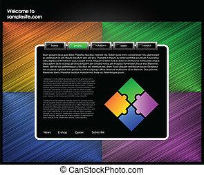 Web site design template 51