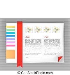 Web site design template, vector - bright template site, ...