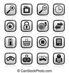 web site, e, ícones internet