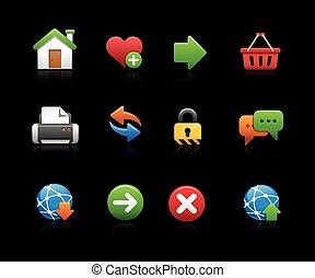 Web Site Icon Set - Black Backgroun