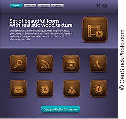 web site interface