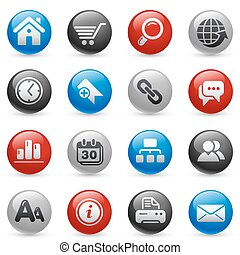 Web Site & Internet / Gel Pro - Glossy web buttons set for...