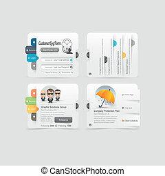 Web site template design menu navig