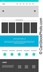Web site template. Modern website design