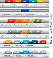 web site template. navigation element. navigation menu bar.