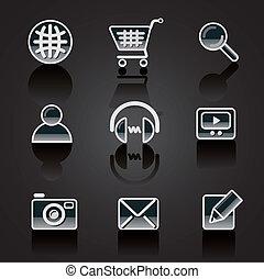 web siteb icon set