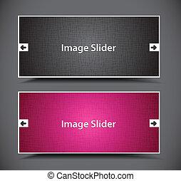 web slider banner - set of web slider banners design.