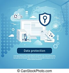 web, spazio, bandiera, protezione, sagoma, copia, dati