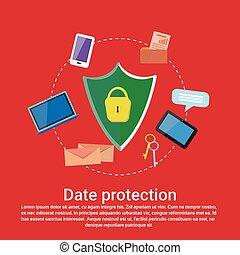 web, spazio, protezione dati, sagoma, linea, servizi, sicurezza, copia, bandiera
