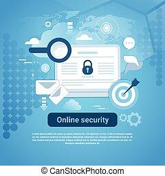 web, spazio, sagoma, linea, sicurezza, copia, bandiera