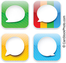 Web speech bubble app icons.