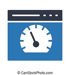 Web speed meter