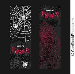 Web spider pattern vector spidery halloween background...