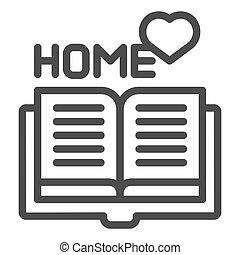 web, stijl, vector, 10., schets, favoriet, vrijstaand, illustratie, eps, app., boek, white., icon., thuis, lijn, lezende , ontwerp, ontworpen
