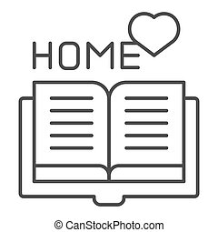 web, stijl, vector, 10., schets, favoriet, vrijstaand, illustratie, eps, app., white., boek, ontworpen, icon., thuis, lijn, lezende , ontwerp, mager