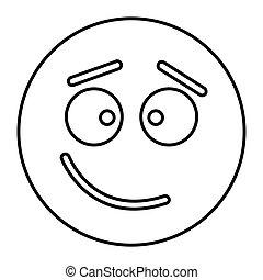 web, stile, contorno, confuso, illustrazione, faccia, vettore, disegno, icona