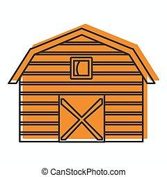 web, stile, fattoria, scarabocchiare, isolato, illustrazione, vettore, disegno, icona