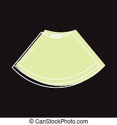 web, stile, scarabocchiare, illustrazione, vettore, disegno, melone, pezzo, icona