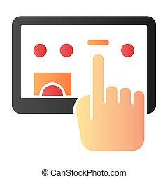 web, stile, selezione, 10., tavoletta, icone, colorare, schermo, pendenza, eps, appartamento, style., tocco, disegnato, digitale, trendy, icon., mano, disegno, app.